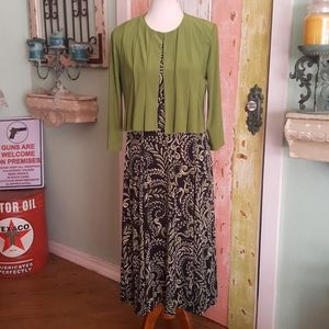 Spring summer maxi 2 piece dress & cardigan 8
